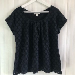 KENNETH COLE Polka top in black size Large
